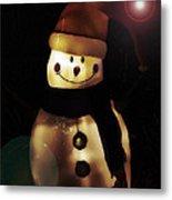 Merry Christmas Snowman  Metal Print