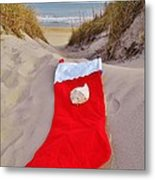 Merry Christmas Stocking 2 12/23 Metal Print