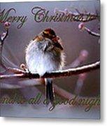 Merry Christmas To All Metal Print