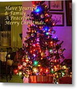 Merry Christmas Wish Metal Print