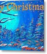 Merry Christmas Wish V3 Metal Print
