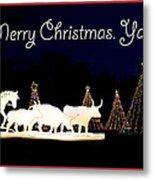 Merry Christmas Ya'll Metal Print
