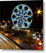 Merry Ferris Wheel Metal Print by Troy Espiritu
