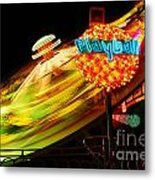 Merry-go-round By Night Metal Print
