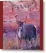 Merry Xmas And Happy New Year Metal Print