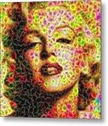 Marilyn - Colored Diamonds Metal Print
