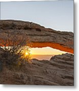 Mesa Arch Sunrise 3 - Canyonlands National Park - Moab Utah Metal Print