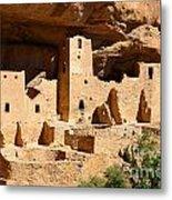 Mesa Verde National Park Cliff Palace Pueblo Anasazi Ruins Metal Print