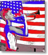 Mess Call Methodist  Service  At Camp Nathan Hale Southfields New York 1943-2014   Metal Print