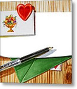 Message From The Heart Metal Print
