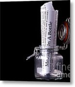 Message In A Bottle Concept Metal Print