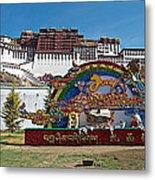 Message Of Joy From Potala Palace In Lhasa-tibet  Metal Print