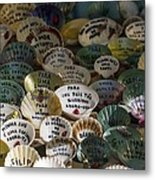 Messages On Shells Metal Print