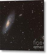 Messier 106 Spiral Galaxy Metal Print