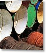 Metal Barrels 1 Metal Print