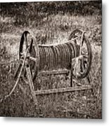 Metal Frame Rope Spindle 1 Metal Print