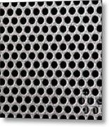 Metal Grill Dot Pattern Metal Print