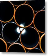 Metal Pipes Metal Print
