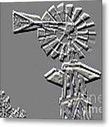 Metal Print Of Old Windmill In Gray Color 3009.03 Metal Print