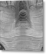 Metal Strips In Balck And White Metal Print
