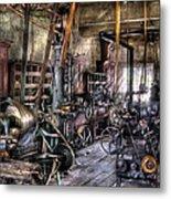 Metal Worker - Belts And Pullies Metal Print
