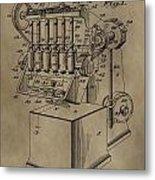 Metal Working Machine Patent Metal Print