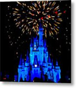 Metallic Castle Metal Print