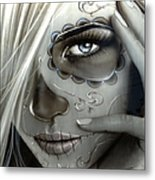 Metallic Decay Metal Print