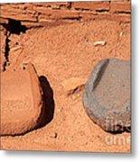 Metates At Wupatki Pueblo In Wupatki National Monument Metal Print