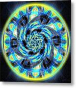 Metatron Swirl Metal Print by Derek Gedney