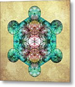 Metatron's Cube Metal Print by Filippo B