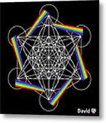 Metatron's Rainbow Healing Cube Metal Print