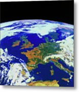 Meteosat Image Of Europe Metal Print