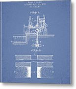 Method Of Drilling Wells Patent From 1906 - Light Blue Metal Print