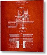 Method Of Drilling Wells Patent From 1906 - Red Metal Print