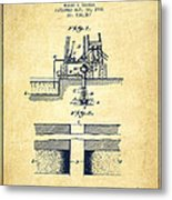 Method Of Drilling Wells Patent From 1906 - Vintage Metal Print