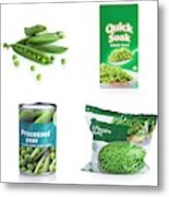 Methods For Preserving Peas Metal Print