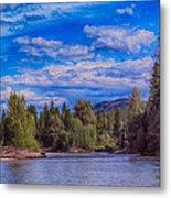 Methow River Crossing Metal Print