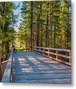 Methow Valley Community Trail At Wolf Creek Bridge Metal Print by Omaste Witkowski