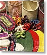 Mexican Basketry Metal Print