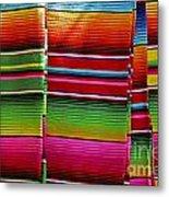 Mexican Blankets Cancun Metal Print