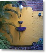 Mexican Courtyard Metal Print