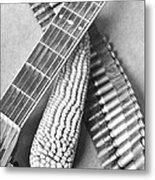 Mexican Revolution, Guitar, Corn Metal Print