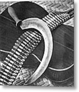 Mexican Revolution Guitar, Sickle Metal Print