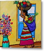 Mexican Street Vendor Metal Print
