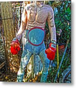 Mexican Wrestler Metal Print by Gregory Dyer