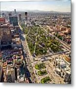 Mexico City Aerial View Metal Print by Jess Kraft