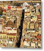 Mexico City Cathedral And Zocalo Metal Print by Jess Kraft