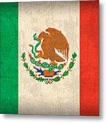 Mexico Flag Vintage Distressed Finish Metal Print
