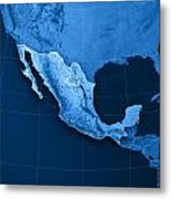 Mexico Topographic Map Metal Print by Frank Ramspott